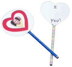 A Spin on Valentines - This non-candy valentine is fun to spin and cute!