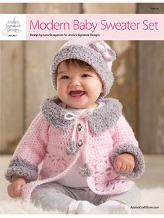Crochet modern baby dress