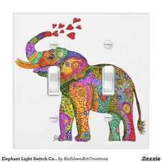 Elephant Light Switch Cover