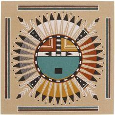 navajo sand painting | Les Navajos - Les amériendiens.