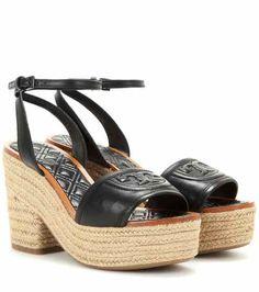 Fleming platform espadrille-style leather sandals | Tory Burch