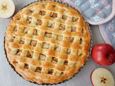 Jablečný koláč Apple Pie, Waffles, Sweet Tooth, Food And Drink, Cooking Recipes, Sweets, Bread, Cookies, Baking