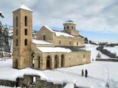 Манастир Сопоћани, дом Свете Тројице, је подигао краљ Стефан Урош I недалеко од извора реке Рашке.