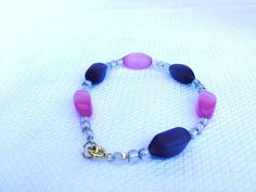 Girly Girly Chic Multi-Colored Bracelet  #beaded #Beads #Bracelets #chic #Cute #darling #fun #girly #girlygirly #gold #newfashiontrends #Pink #Pretty #Purple #spacers