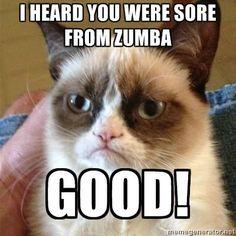Grumpy Cat Zumba
