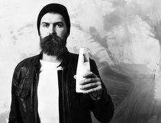 HIPSTER MILK.   We are seriously thinking to release a beard product containing milk, we are sure that we can kill the market, think about it! ------------ Fails, Hipster, Life, Hipsters, Thread Spools, Boyshorts