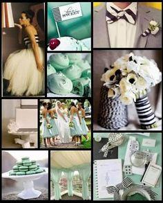 mint green wedding:)
