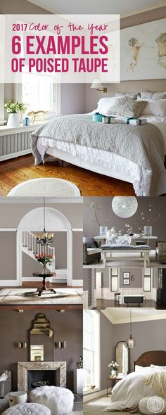 2017 Color of the Year, 6 examples of poised taupe
