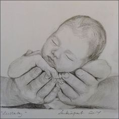 Drawing Pencil Portraits - Lullaby in graphite pencils Discover The Secrets Of Drawing Realistic Pencil Portraits Pencil Art Drawings, Art Drawings Sketches, Baby Drawing, Painting & Drawing, Mother And Child Drawing, Pencil Portrait, Amazing Art, Art Projects, Illustration
