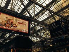 KFC Burritos, Glasgow Central Station, UK.  Photo by Catherine S. Ramírez.