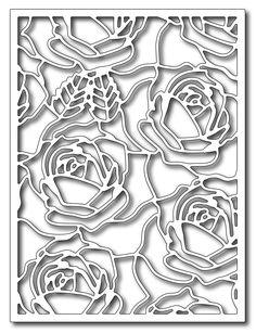 Frantic Stamper Precision Die - Blooming Roses Card Panel,$24.99