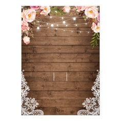 Shop Rustic Wood String Lights Lace Floral Farm Wedding Invitation created by CardHunter. Personalize it with photos & text or purchase as is!