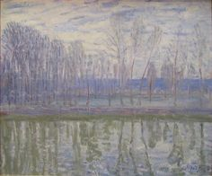 On the Banks of the River Loing by @artistsisley #impressionism