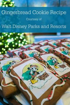 Get the recipe for Disneyland's tasty gingerbread cookies (or shingles as they are referred to inside the theme park) and learn about other holiday treats! Gingerbread Man Cookies, Christmas Sugar Cookies, Christmas Sweets, Christmas Recipes, Christmas Ideas, Ginger Molasses Cookies, Ginger Bread Cookies Recipe, Disneyland Christmas, Disney Holidays
