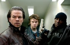 Mark Wahlberg, Tyrese Gibson and Garrett Hedlund in Four Brothers