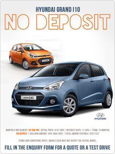 Hyundai Grand From 588 pm. No Deposit.