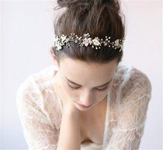 HITOP Retro Griechisch elegant Damen Süß Spitze Strass Blumen Riemen Headwrap Stirnband Haarreif Haarband Haarschmuck Stirnschmuck Hochzeit: Amazon.de: Schmuck