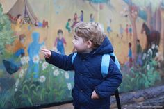 Kensington Palace on Twitter: Prince George began his first day at Westacre Montessori School, Norfolk, January 6, 2016, in a photo taken by his mother the Duchess of Cambridge; both the Duke and Duchess dropped off George for his first day of nursery school.