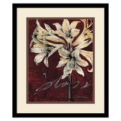 ''Cabernet Blossoms Ii'' Framed Wall Art, Black