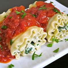 Speaking of lasagna roll ups...these look like what my family makes...only we use alfredo sauce.