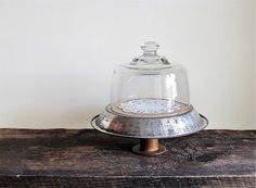 Hey, I found this really awesome Etsy listing at https://www.etsy.com/listing/217117226/repurposed-vintage-pie-pan-and-glass