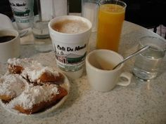 Check!!  -  Coffee and Beignets at Cafe du Monde