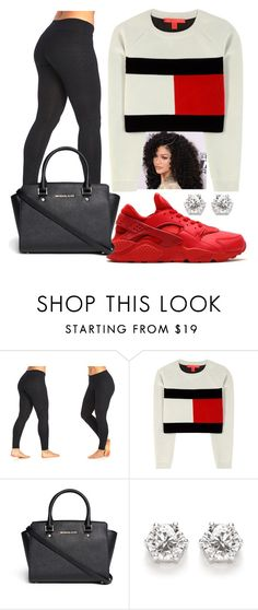 """simple days"" by shakiramarie ❤ liked on Polyvore featuring The Balance Collection by Marika, NIKE, Tommy Hilfiger and Michael Kors"