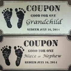 What a cute way to announce pregnancy to family!
