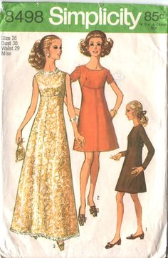 60s Cocktail Dress Pattern Mod ALine AboveKnee or by HoneymoonBus, $7.99