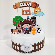 Cow Birthday Parties, Birthday Cake, Cakes For Boys, Cute Cakes, Cake Toppers, Candy, Lucca, Desserts, Food