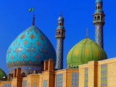 Iran. Mashhad Imam Reza Shrine Gold Dome, and famous Naqsh