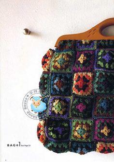 Granny Square Bag! Love it.