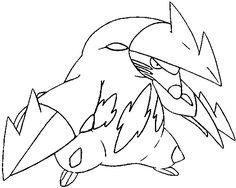 Dibujos para colorear Pokemon - Excadrill - Dibujos Pokemon