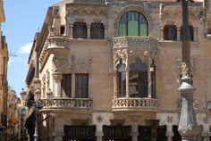 Casa Navàs, de Lluís Domènech i Montaner, a Reus (Catalonia)