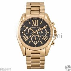 af427bfe1f7e5 Michael Kors Original MK5739 Women s Bradshaw Gold Black Dial Chronograph  Watch https   t