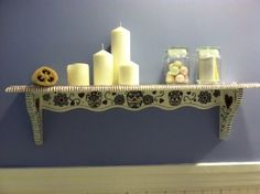 Sugar Skull Bathroom Shelf
