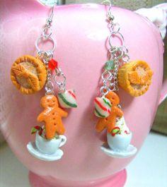 Gingerbread Christmas Earrings  Christmas Earrings