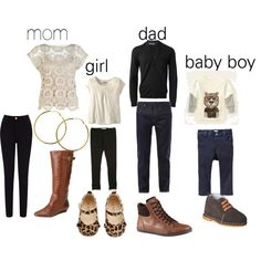 """""""Fall Family Photo Outfit idea. Black, Tan & Cream. I like the colors together - just wondering if I need a pop of color."""