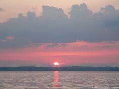 Untergehende Sonne am Chiemsee