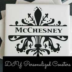 DIY Christmas Gifts : Personalized Coasters made with my Silhouette and Vinyl - My Favorite Finds