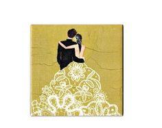 Quadrinho Azulejo Casamento