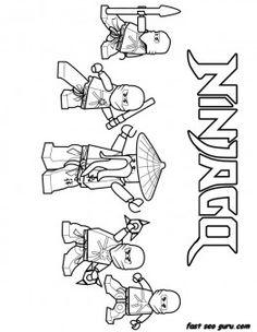 Printable Ninjago Ninja Team Coloring Page for boy - Printable Coloring Pages For Kids