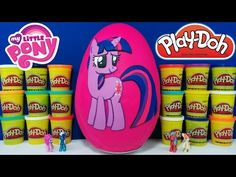 Play Doh Egg Surprise | Custom My Little Pony Rainbow Dash Design A Pony With DCTC - YouTube
