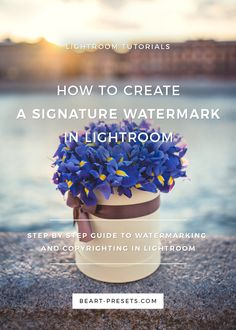 How to Watermark Your Photos in Lightroom