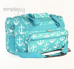 More Colors Small Anchor DUFFLE Bag  Cosmetic Bag by ShopSimpleJoy