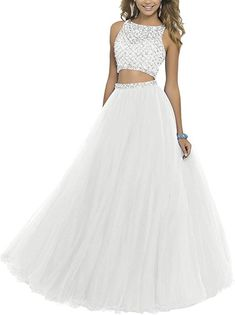 Lisa Two Piece Beading Bodice Prom Dresses 2016 Long Party Gowns Hand-made and Gorgeous design makes the dress appropriate for a homecoming, Prom,a Prom Dresses Two Piece, Pretty Prom Dresses, Prom Dresses 2016, Tulle Prom Dress, Ball Dresses, Cute Dresses, Ball Gowns, Prom Gowns, Long Party Gowns