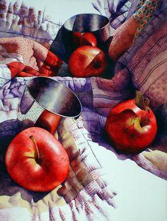 Apples and Cups. Chris Krupinski WATERCOLORS