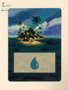 Island - Extended Full Art - MTG Alter - Revelen's Light Altered Art Magic Card