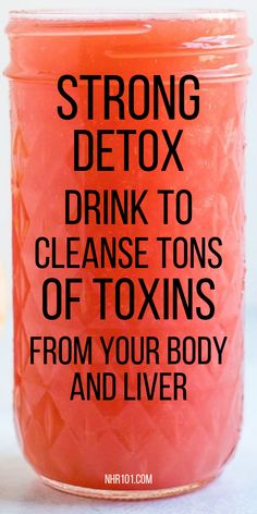 Strong Detox Drink To Cleanse Toxins From Your Liver Fast! Strong Detox Drink To Cleanse Toxins From Your Liver Fast! Full Body Detox, Detox Your Body, Healthy Detox, Healthy Drinks, Healthy Food, Healthy Recipes, Detox Diet Drinks, Cleanse Detox, Detox Juices