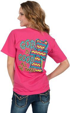 Girlie Girl Originals™ Women's Pink God Is Good Tee